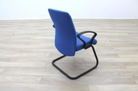 Blue Fabric Cantilever Office Meeting Chair - Thumb 7