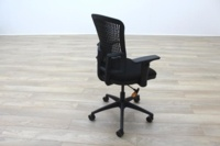 New Cancelled Order Black Fabric / Plastic Mesh Back Office Task Chairs - Thumb 6