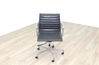 Eames Style Black Ribbed Office Task Chair - Thumb 3