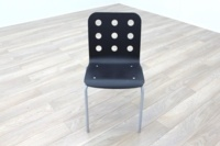 Black Wooden Office Canteen Chairs - Thumb 3