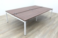 New Mobili Soho 2 Walnut Commercial Grade Office Bench Desking - Thumb 2