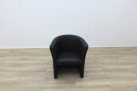 Black Faux Leather Reception Chairs - Thumb 2