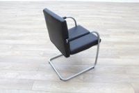Vitra Visasoft Black Leather Cantilever Office Meeting Chairs - Thumb 7