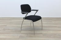 Brunner Black Fabric Meeting Chair - Thumb 5