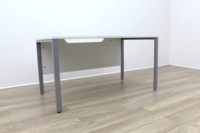 White 1400mm Straight Office Desks - Thumb 4