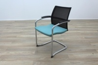 Sedus UP 233 Black Mesh Back Teal Seat Office Meeting Chairs - Thumb 2