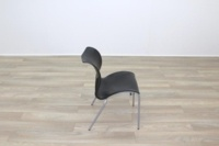 Black Polymer Stacking Office Canteen Chair - Thumb 6