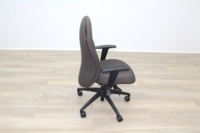Verco Brown Fabric Operator Chair - Thumb 6