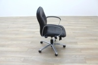 Black Faux Leather Executive Office Task Chairs - Thumb 6