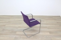 Brunner Purple Velour Meeting Chair - Thumb 7