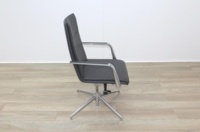Brunner Dark Grey Leather High Back Executive Chair - Thumb 6