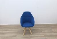 Blue Fabric Reception Chair - Thumb 3