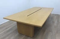 Sven Christiansen Solid Oak Office Meeting Table - Thumb 4