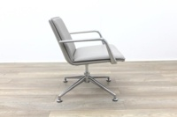 Brunner Light Grey Leather Meeting Chair - Thumb 6