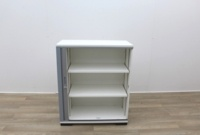 White Tambour Office Storage Cupboards - Thumb 3