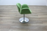 Artifort Little Tulip Chair, Green Fabric Office Reception - Thumb 6