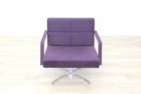 Brunner Purple Fabric Reception Chair - Thumb 4
