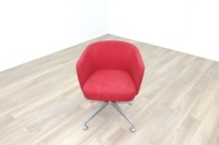 Orangebox HAY Red Fabric Office Reception Tub Chairs - Thumb 4
