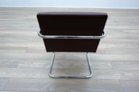 Knoll Studio Brno by Mies Van Der Rohe Brown Leather Executive Office Meeting Chairs - Thumb 6