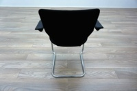 Orangebox X10 Black Fabric Chrome Frame Office Meeting Chairs - Thumb 5