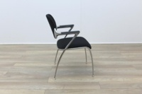 Brunner Black Fabric Meeting Chair - Thumb 6