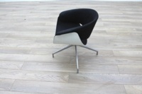 B&B Italia Sina Black Fabric White Back Office Reception Chair - Thumb 4