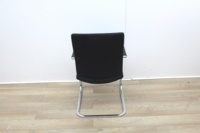 Black Meeting Chairs With Chrome Legs  - Thumb 5
