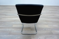 Pledge Black Leather Cantilever Office Meeting Chairs - Thumb 5