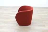Red Fabric Office Reception Tub Chairs - Thumb 5