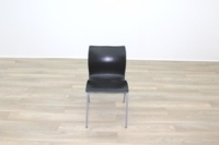 Black Polymer Stacking Office Canteen Chair - Thumb 5