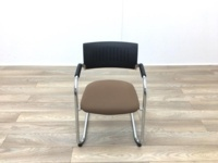 Black Back Brown Seat Meeting Chairs - Thumb 4
