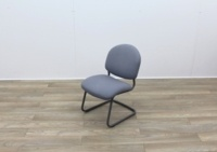 Grey Meeting Chairs With Black Frame - Thumb 3