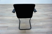 Orangebox GO Black Fabric Office Meeting Chairs - Thumb 5