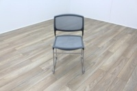 Grey Mesh / Chrome Frame Cantilever Office Canteen / Meeting Chairs - Thumb 3