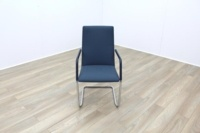 Brunner Fina Soft Blue Fabric Cantilever Office Meeting Chairs - Thumb 3