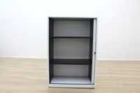 Triumph White Metal 1200mm Tambour Office Storage Cupboards - Thumb 3