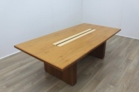 Sven Christiansen Walnut / Bird's Eye Maple Office Meeting Table - Thumb 2
