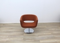 Orange Fabric Tub Chairs - Thumb 3