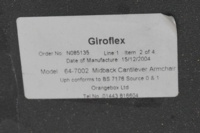 Giroflex G64 Cantilever Burghundy Office Meeting Chair - Thumb 6