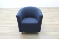 Dark Blue Fabric Office Reception Tub Chairs - Thumb 4