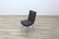 Brown Leather Montis Jim Office Meeting Dining Chairs - Thumb 4