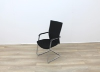 Black Stacking Meeting Chairs With Chrome Frame - Thumb 4