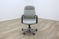 Wilkhahn FS Line Grey Leather Executive Office task Chair - Thumb 2