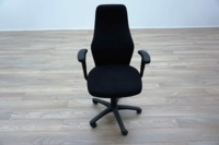 Black Fabric High Sculpted Back Multifunction Office Task Chairs - Thumb 3