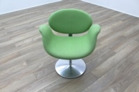 Artifort Little Tulip Chair, Green Fabric Office Reception - Thumb 2