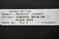 Herman Miller Cantilever Black Fleck Fabric Office Meeting Chairs - Thumb 6
