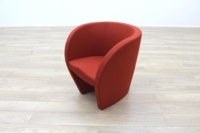 Red Fabric Office Reception Tub Chairs - Thumb 2