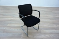 Black Mesh / Fabric Cantilever Office Meeting Chairs - Thumb 2