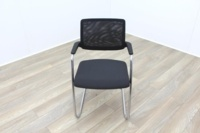 Brunner Black Mesh Back Grey Fabric Seat Meeting Chair - Thumb 2