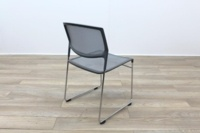 Daylight Grey Mesh Canteen Chair Made in US - Thumb 7